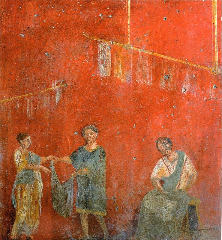 Ancient Rome Pompeii Clothes For Drying